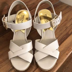 MICHAEL Michael Kors Vanilla Leather Platform